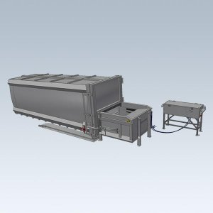 Stationary compactors with replaceable containers
